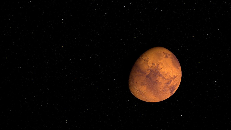 Mars, snow, planet, ice caps, space, winter