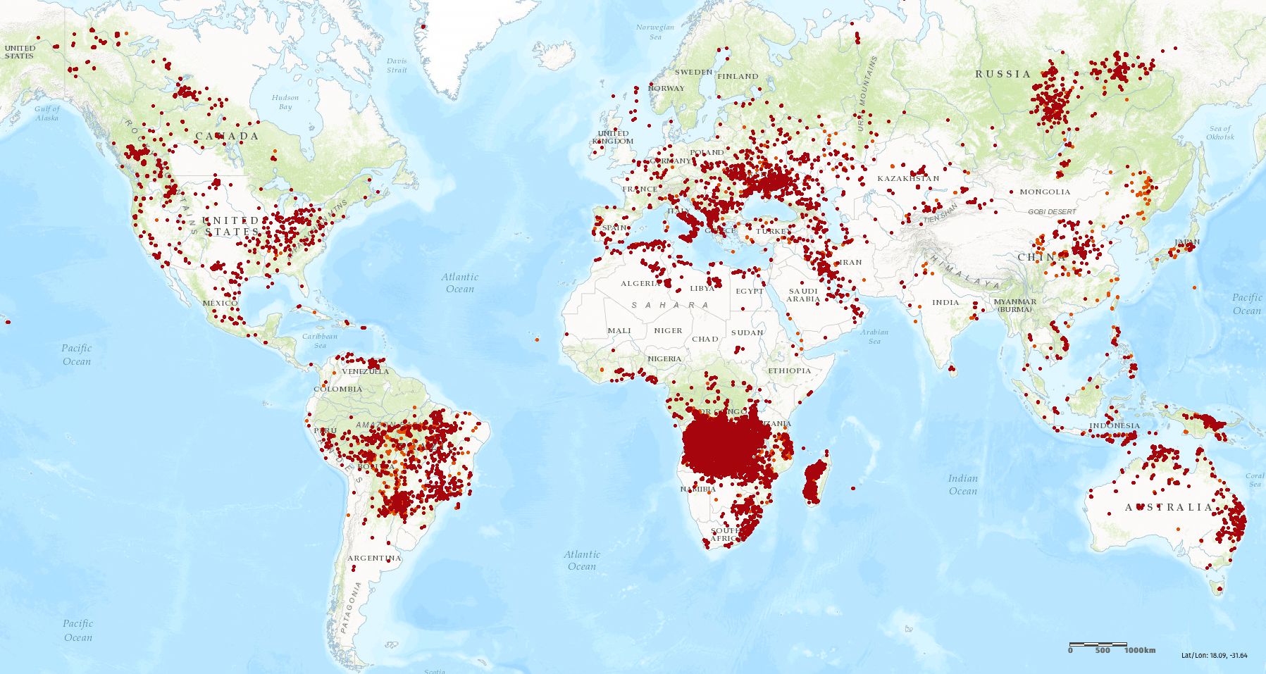 the world is on fire - an overview of current wildfires