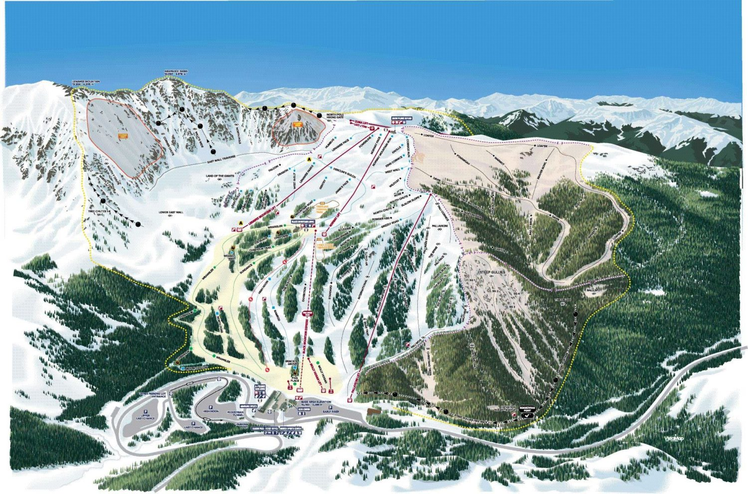 Arapahoe Basin, CO's New Trail Map - Snowins on c&o towpath map, o c md map, c&o canal map,