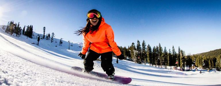 Snowboarding Boreal Mountain