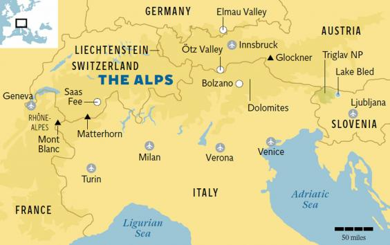 alps-map, Wikipedia - SnowBrains