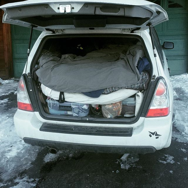 how i survived the winter living in my subaru forester snowbrains
