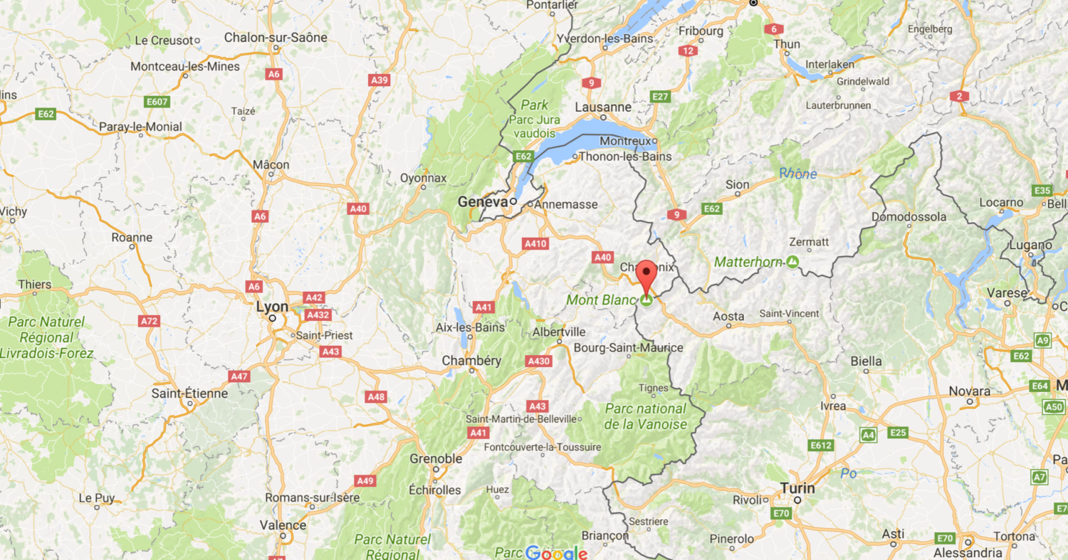 Mont Blanc France Map.19 Year Old Mountaineer Killed In Avalanche On Mont Blanc France