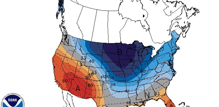 noaa, climate prediction, cold, april