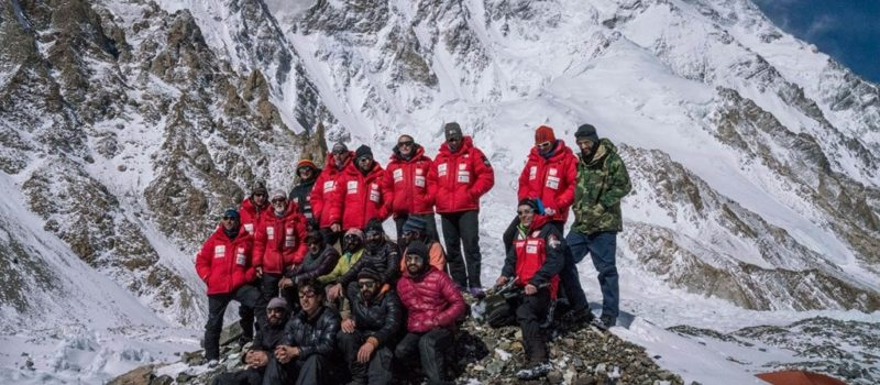 k2, winter summit attempt, abandon, avalanche
