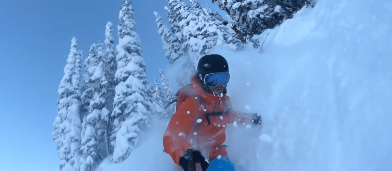 revelstoke, tree skiing, powder, pillows, drops, video, canada