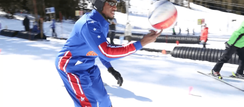 buckets Blakes, Harlem globetrotters, Colorado, arapahoe basin, a-basin, learn to ski,