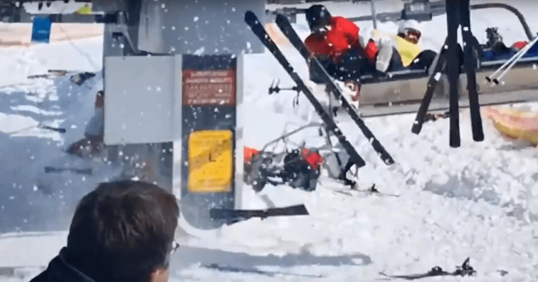 Georgia, chairlift, reverse, broken chairlift, video,