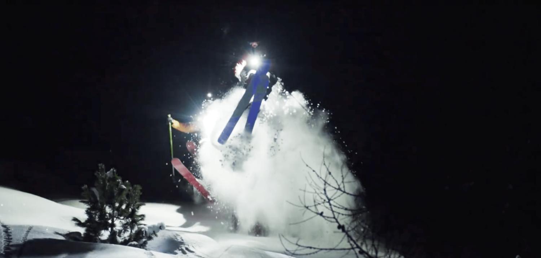 night skiing, video, powder, night, Nico Vuignier