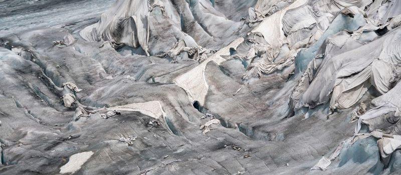 glacier, rhone glacier, switzerland, covered blanket