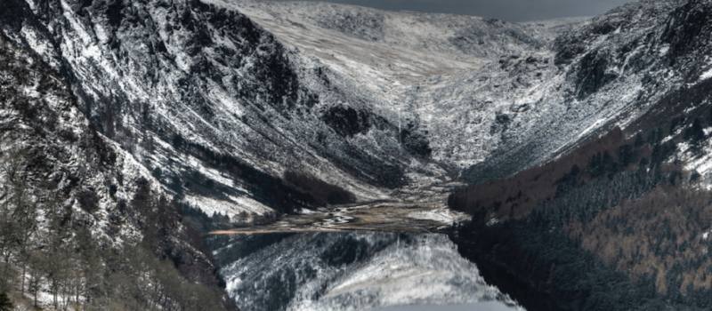 ireland, avalanche, wicklow mountains