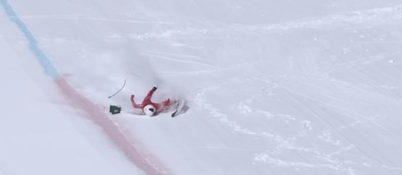 speed skiing, crash, wipeout, yardsale