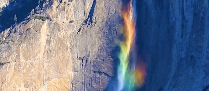 rainbow, mesmerizing, Yosemite