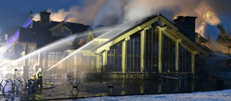 sun valley, warm springs lodge, fire