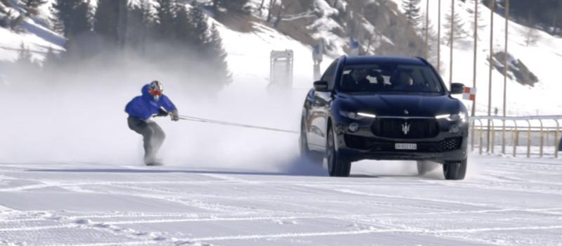 snowboarder, world record, speed, Maserati, Jamie barrow, British