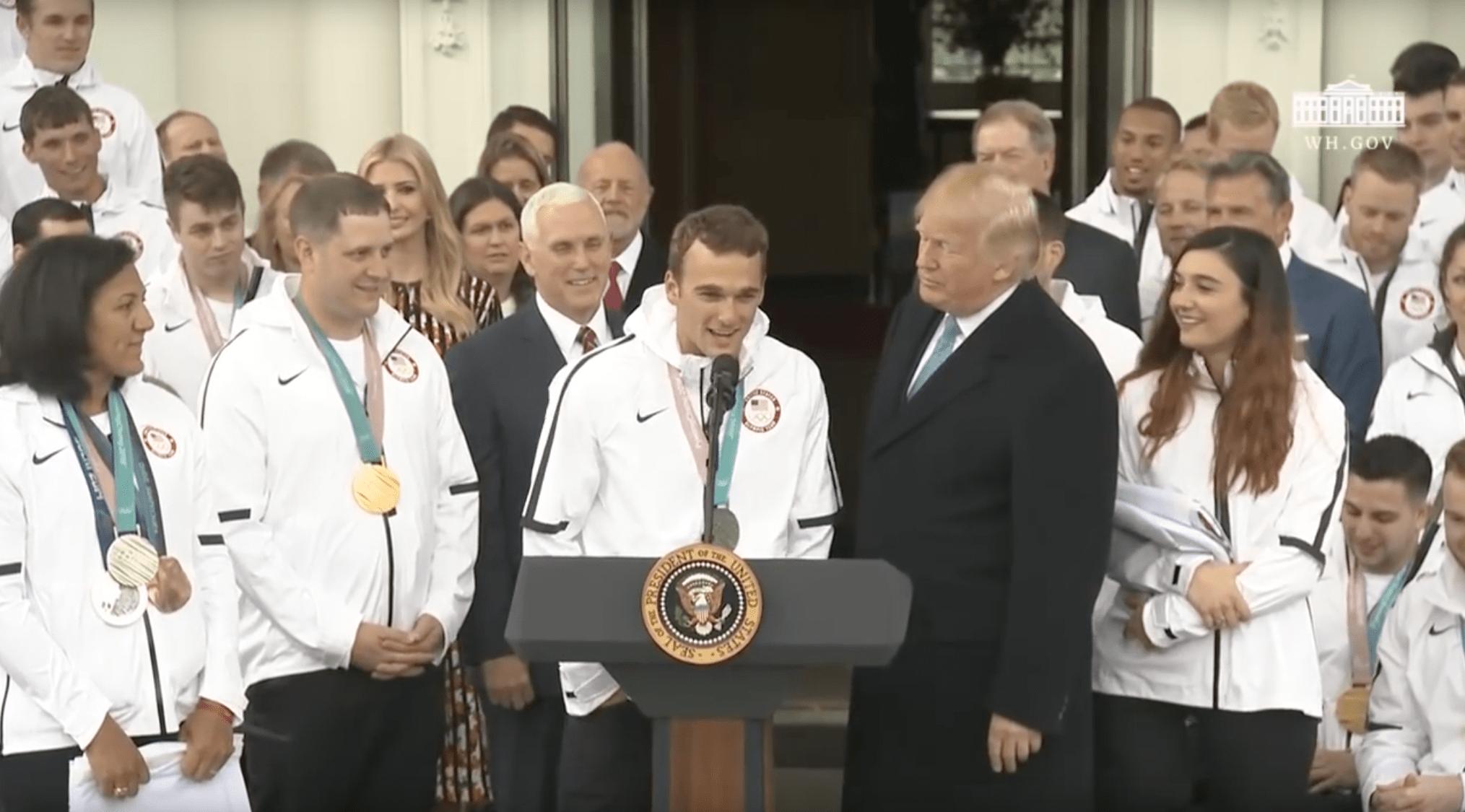 mark, nick groepeer, president, trump, White House, olympics, Pyeongchang