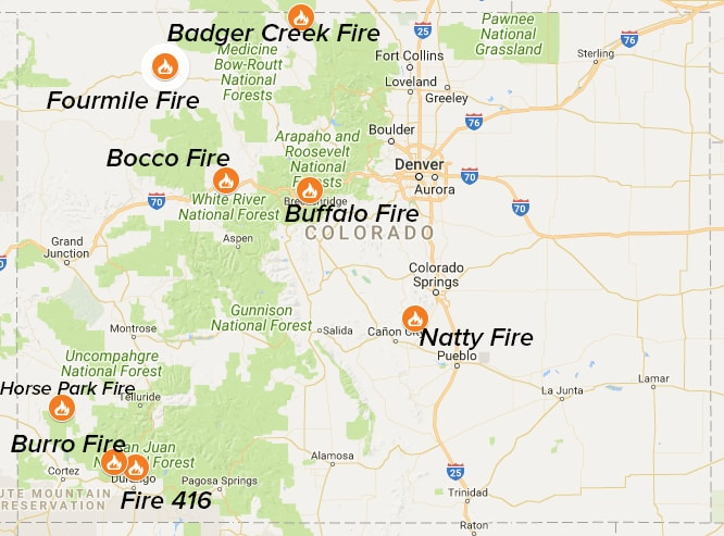Eight Wildfires Blazing In Colorado Right Now Snowbrains