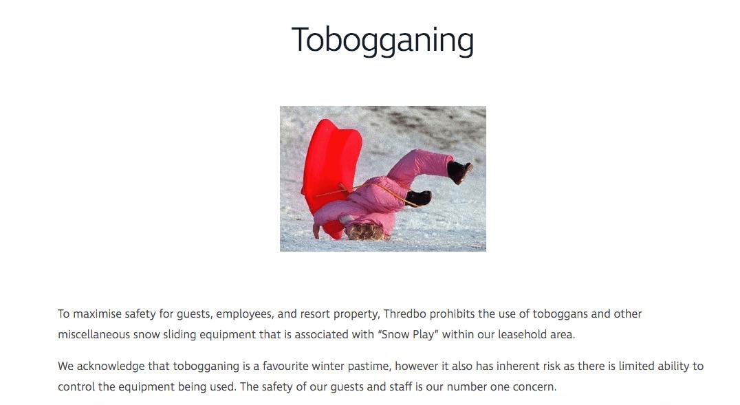 thredbo sledding ban