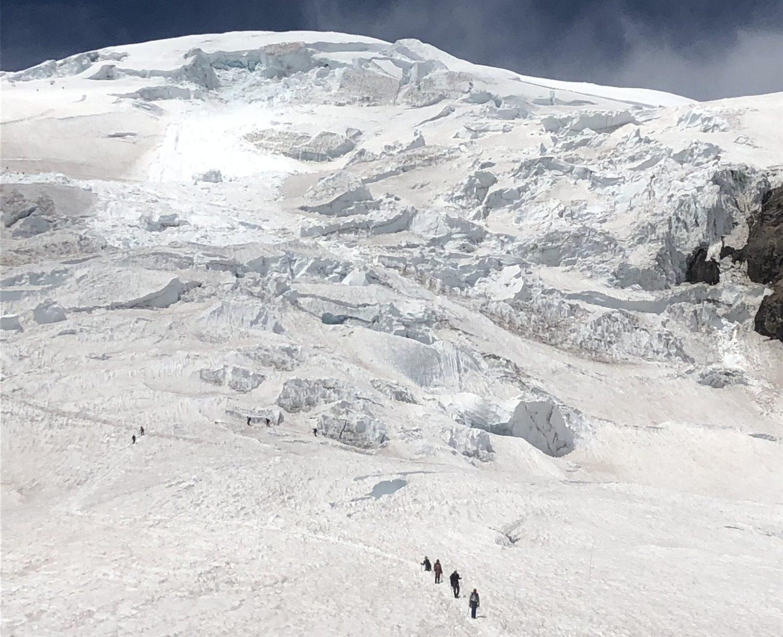 mount rainier, icefall, Washington