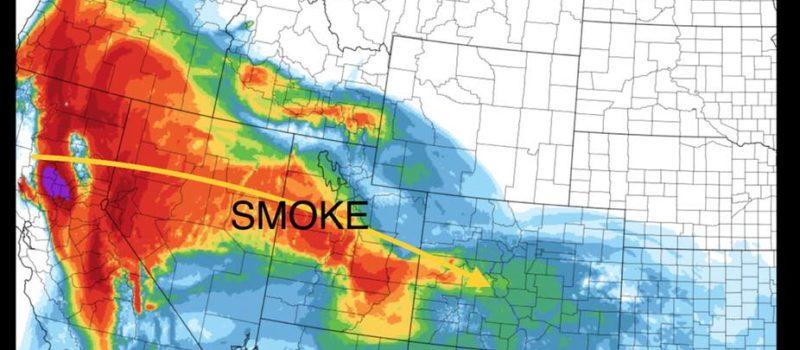 carr fire, california, smoke, colorado, Utah, Oregon, Texas