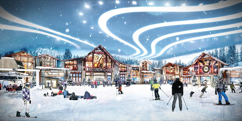 ski resort, indoor ski