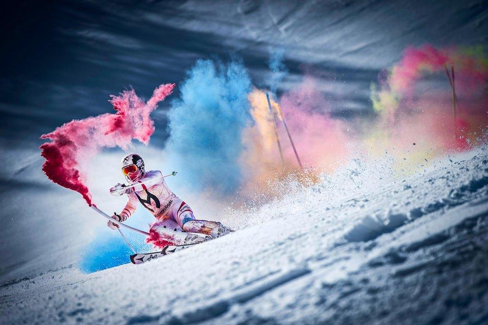 VIDEO: World Cup Skier Marcel Hirscher in Sweet, Colorful, Ski Run Fun