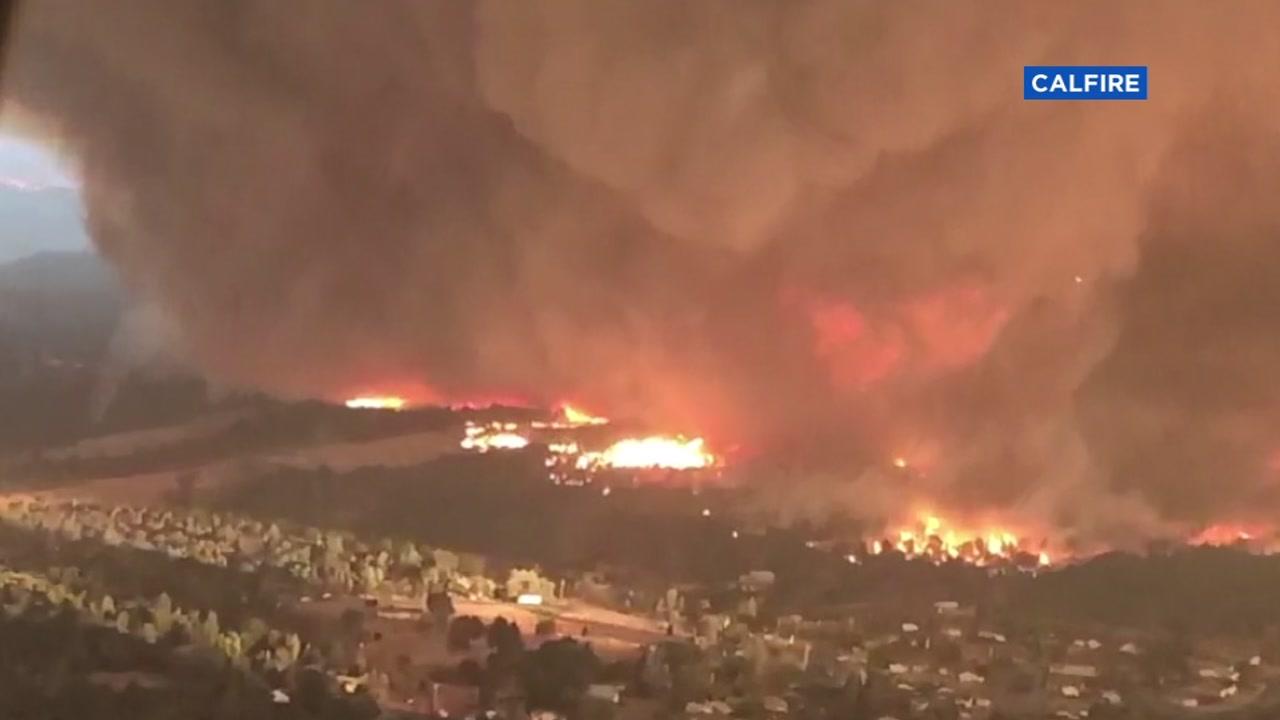firenado, carr fire, california