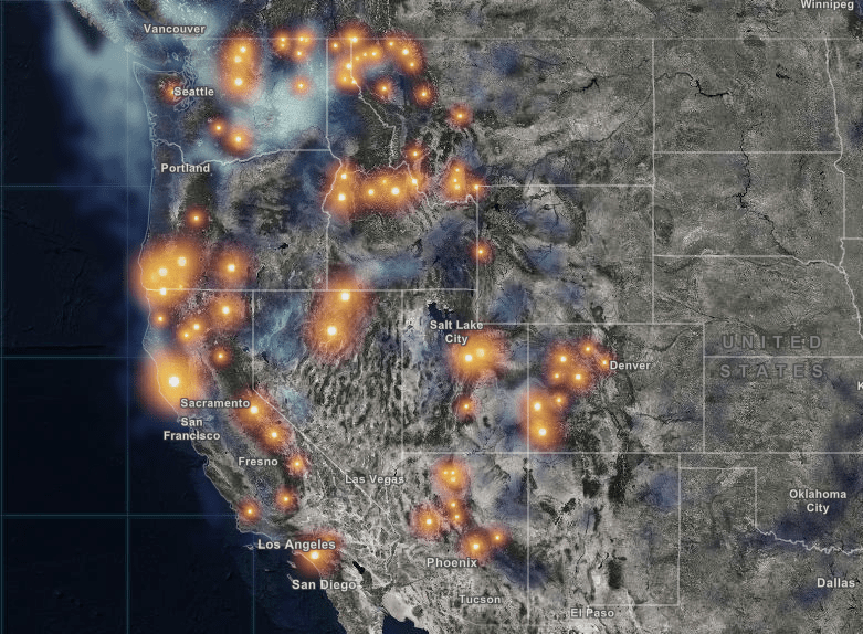 Real Time And Interactive Map Of Current Wildfires In The Usa