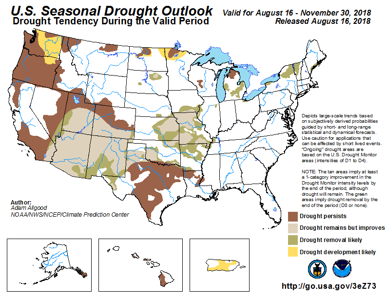 noaa, drought, outlook
