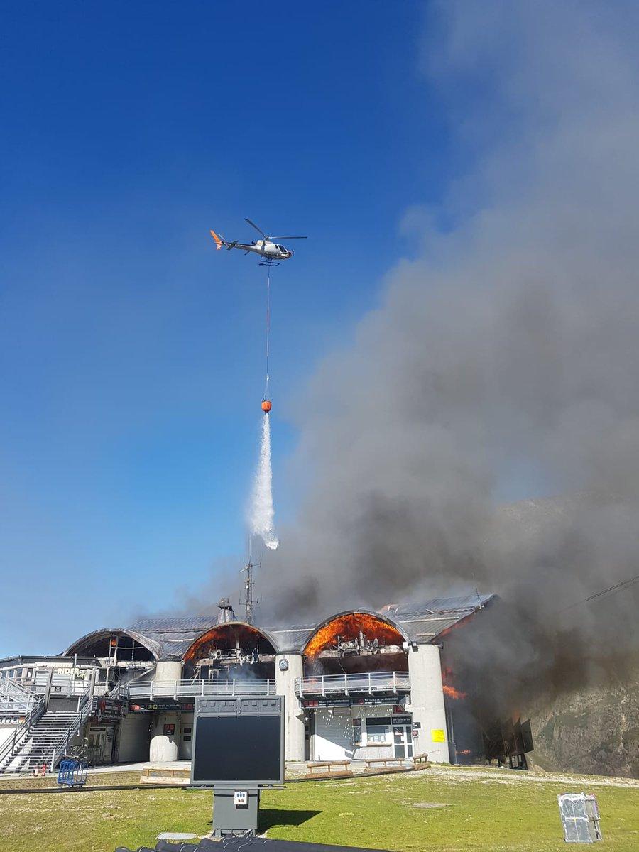 Chamonix, france, cable car, fire