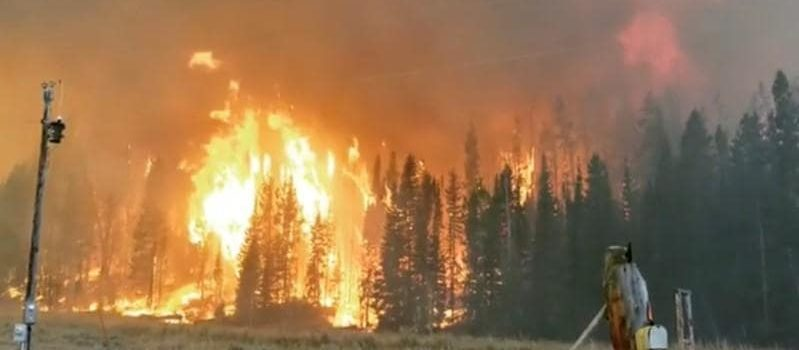 Roosevelt Fire, Wyoming, Jackson Hole, wildfire