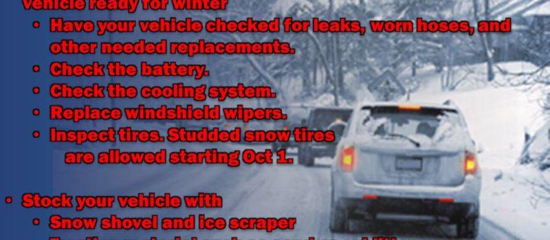 Snow tires, winter driving, auto, preparedness