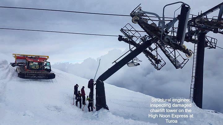 Working on ski lift, avalanche breaks lift, ski resort employment