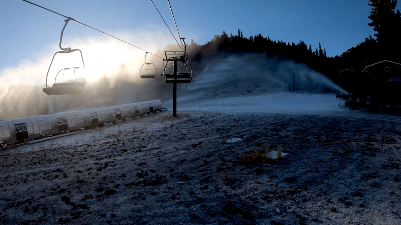 Squaw Valley, winters coming, California, snowguns