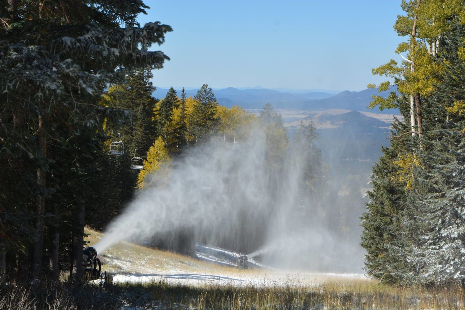 Treated groundwater is perfect for snowmaking, and it is sustainable