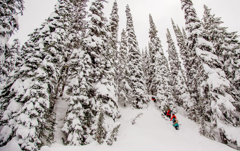 Bootpacking through deep snow at RMR.