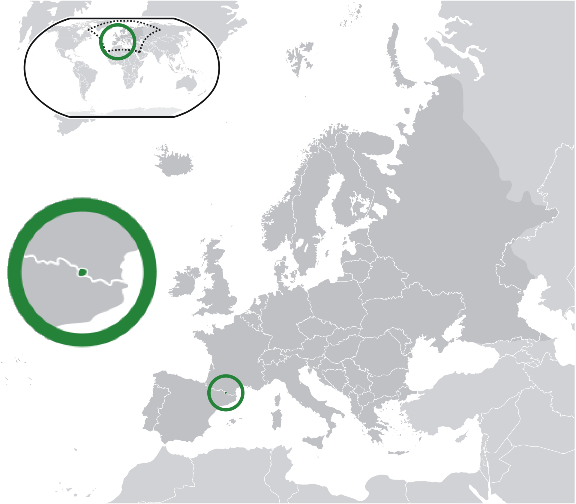 Andorra, Andorra location on a map, Andora ski area