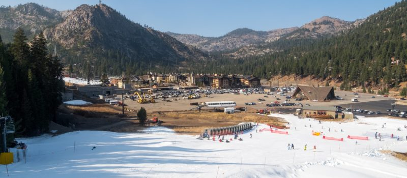 There's snow at Squaw Valley