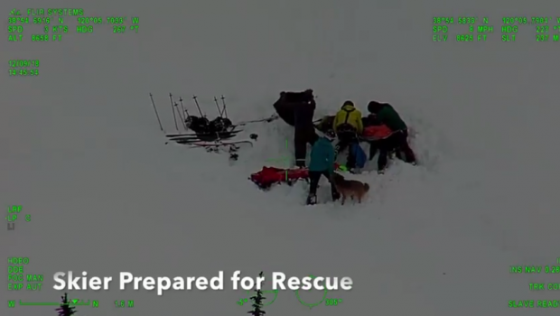 airlifted, backcountry skier, mount Tallac, california
