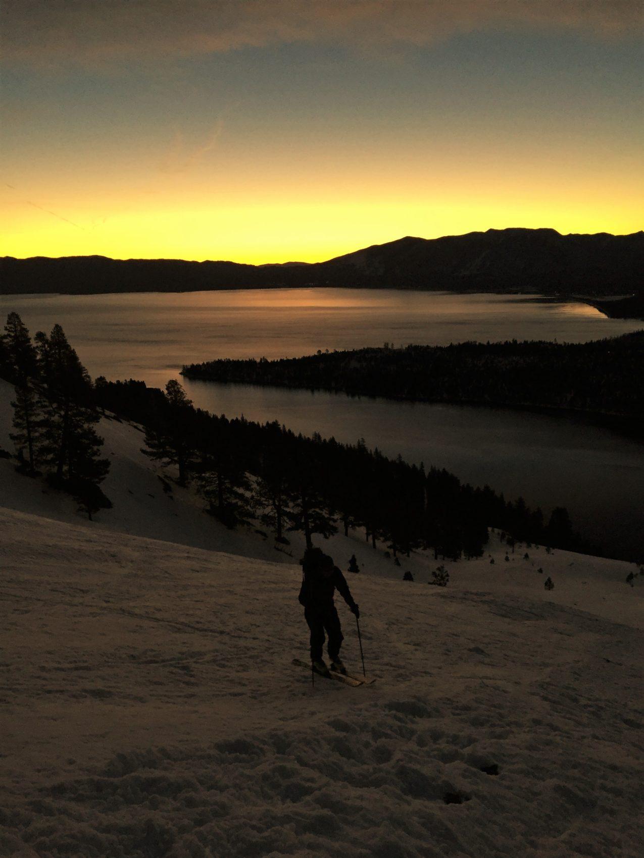 Lake Tahoe, backcountry, map