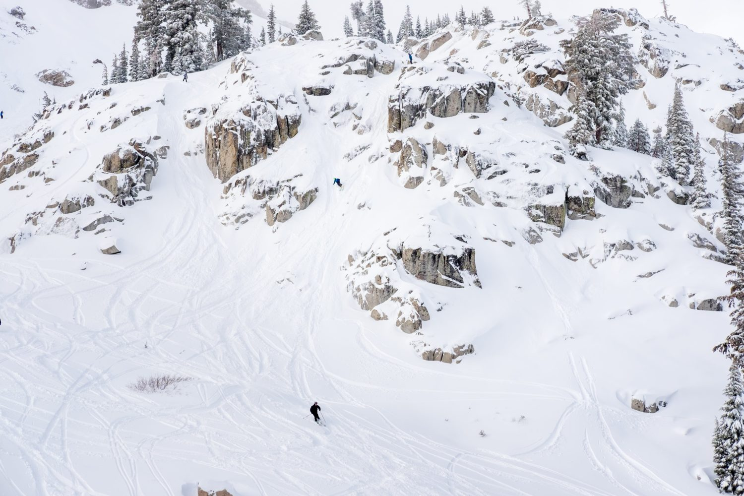 Shirley Chutes on a pow day