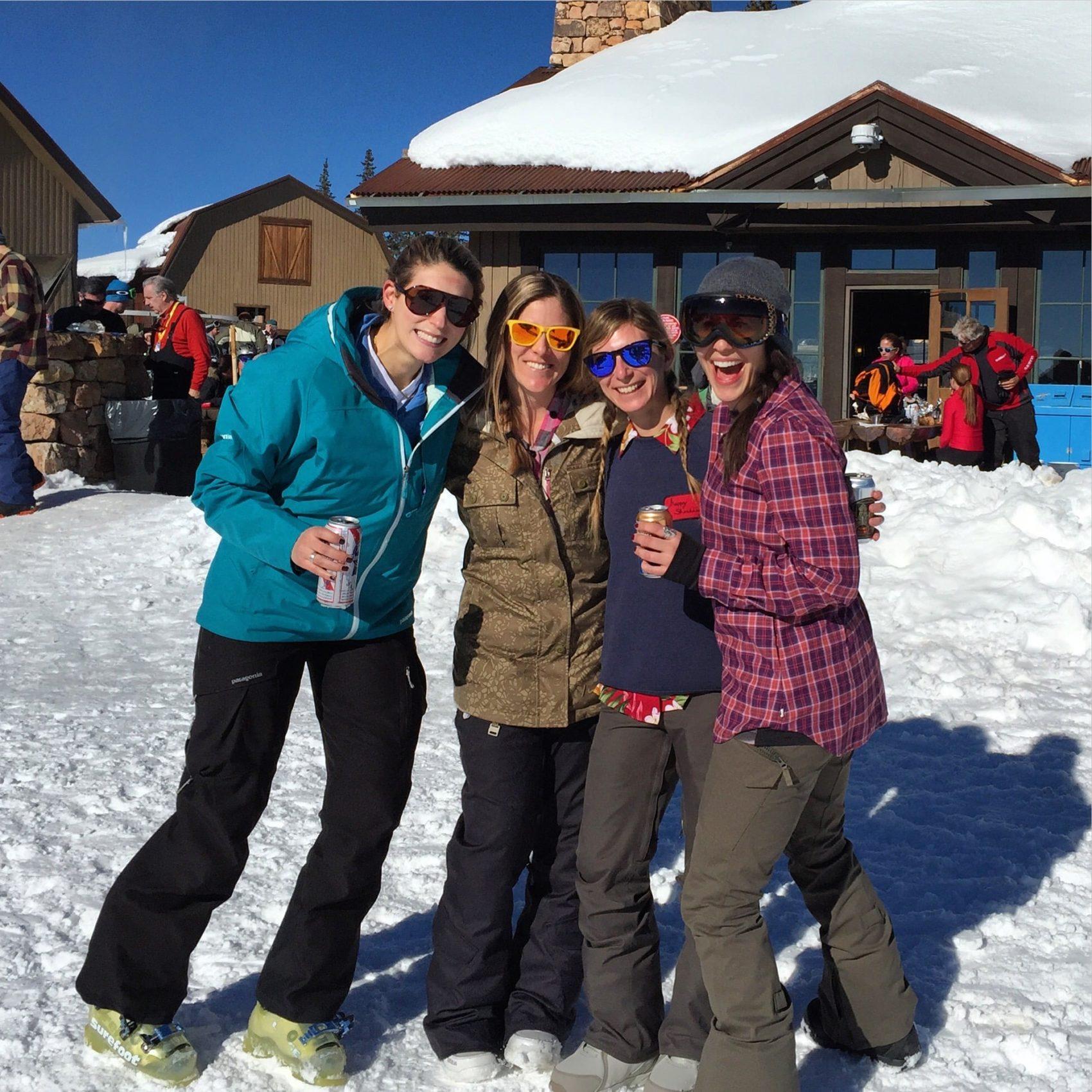 ski retreat, adventurous women, california