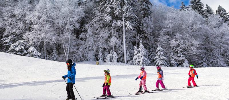 Ski lessons at Snowshoe