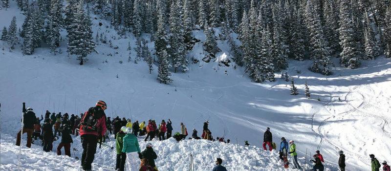 avalanche, inbounds, taos ski valley, kachina peak, New Mexico
