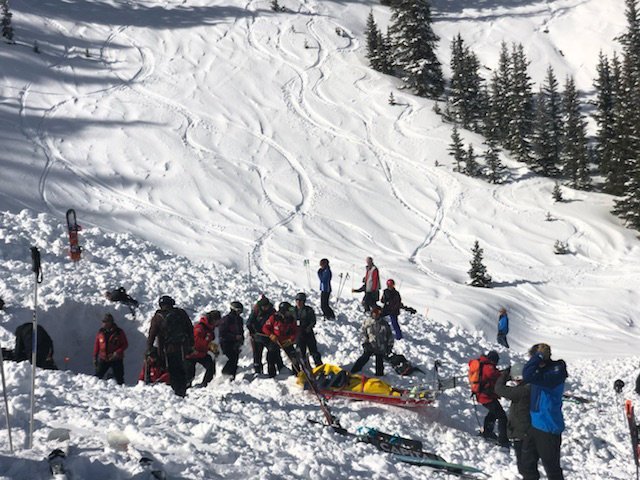 avalanche, inbounds, Taos, new mexico