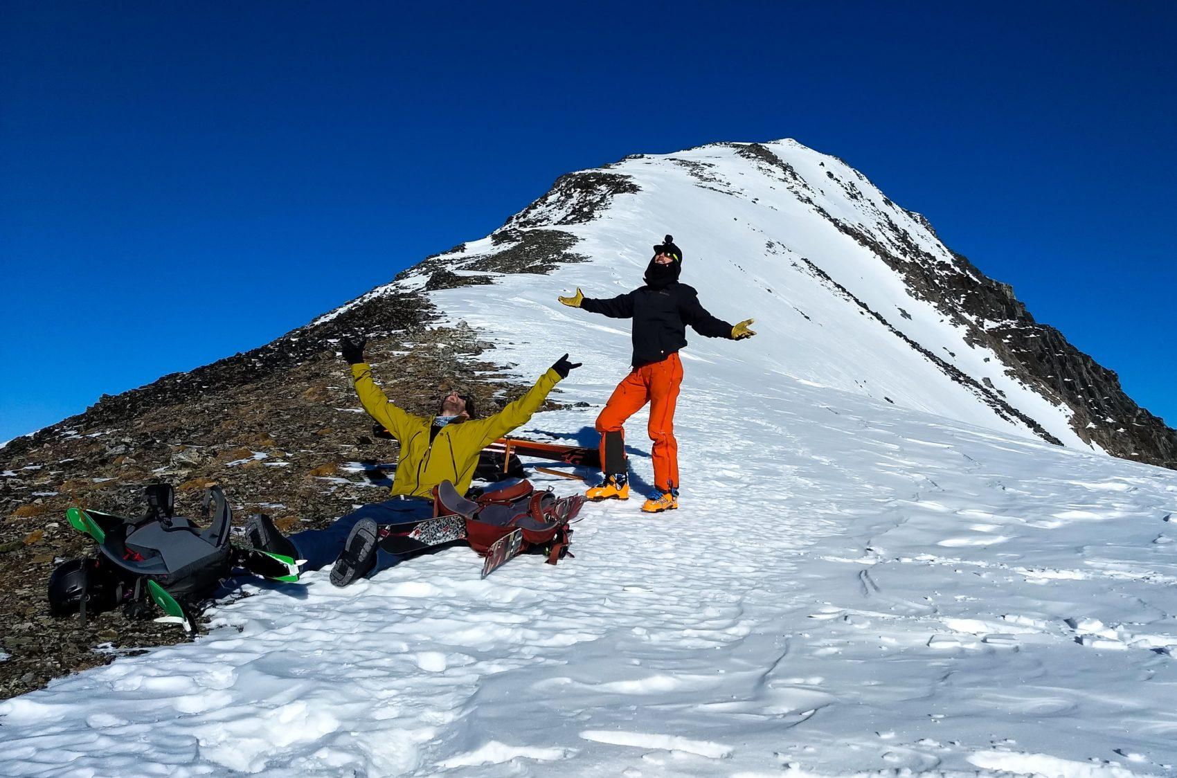 mountaineers top of ross peak