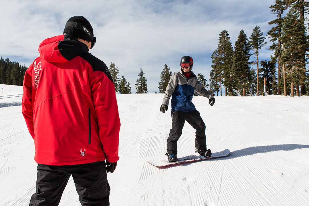 January, learn to ski and snowboard