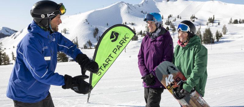 squaw, alpine, california, learn to ski and ride