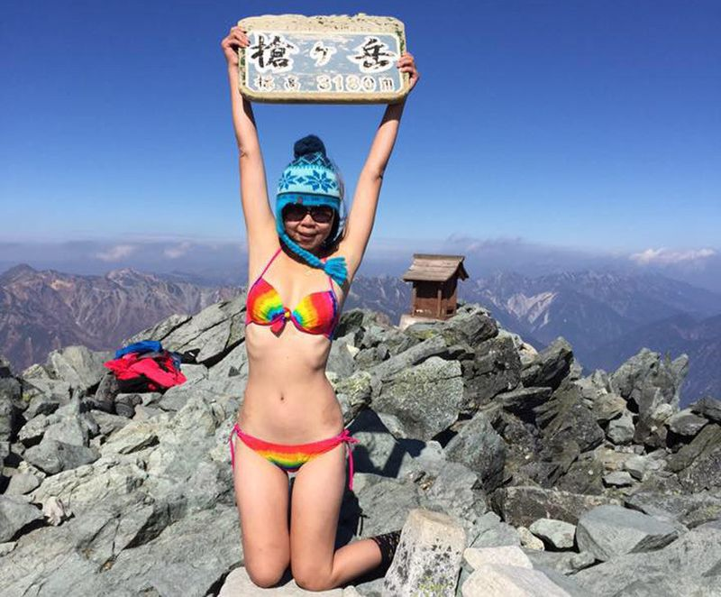 social media, fall death, bikini hiker