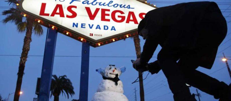 Las Vegas, record snow